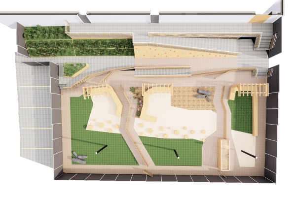 Hutch Kids Playground Study Rendering